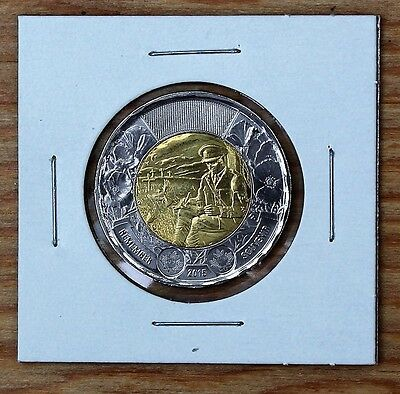 2015 Canada $2 Coin Toonie In Flanders Fields UNC from RCM Roll