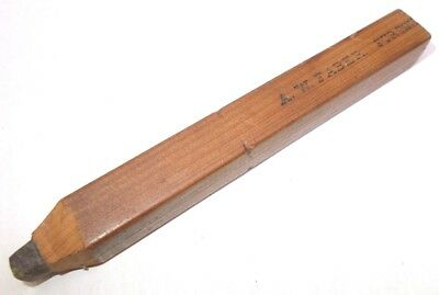 Vintage pencil wood wooden fat antique pencil A.W Faber Furting 1930's
