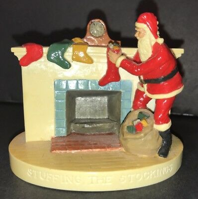 Sebastian Miniature Figurine 1990 Stuffing The Stockings Signed Dated Preowned