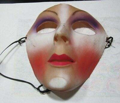 Don Post Creepy Lady Facemask 1985 Halloween Mask Horror