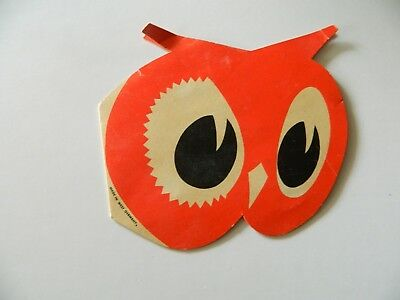 VINTAGE RED OWL STORE PROMOTIONAL SEWING NEEDLE BOOKLET Made in GERMANY
