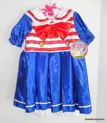 New Lalaloopsy Girls Dress Up Halloween Costume Marina Anchors Size 4-6