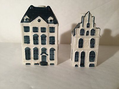 KLM Collectable Delft Houses No 57 and No 81
