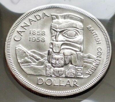 1958 Canada Silver Dollar Coin - Sealed in Acid-Free Package -80% Silver Coin N1