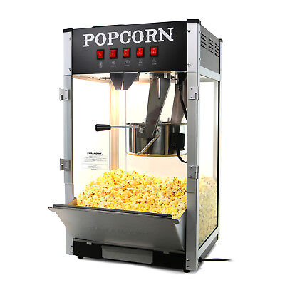 Paramount 16oz Commercial Popcorn Maker Machine - 16 oz Kettle Popper [Black]