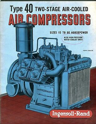 Ingersoll Rand Type 40 Two-Stage Air-Cooled Air compressors sales booklet