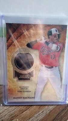 Topps 2017 Tier One MANNY MACHADO (Baltimore Orioles) Jersey Relic Card #/331