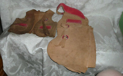 Kids Size Suede Leather Chaps & Vest Outfit BROWN no markings