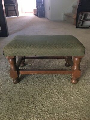 Antique Wood FOOT STOOL