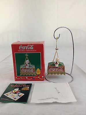 Enesco Coca Cola Bar Light 1996 Waiter Waitress Christmas Tree Ornament