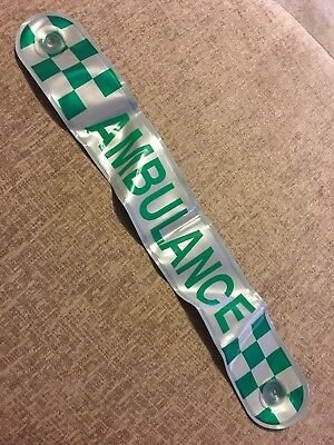 Used Ambulance Vehicle Reflective Sign With Suction Pads