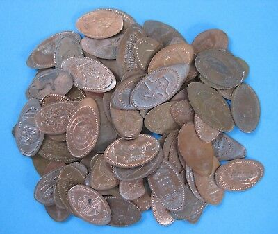 Elongated Pennies / Cents - Lot of 100 Mostly Midwest - Minnesota, WN, Texas