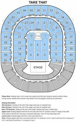 Take That Tickets x 2 Melbourne 15th November Sec S, Row A Gold Tickets