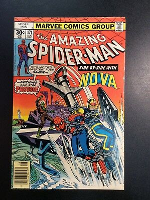 Amazing Spider-Man #171 Bronze Age Marvel Comic Book Len Wein Andru NOVA 1977