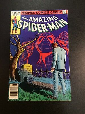 Amazing Spider-Man #196 Bronze Age Marvel Comic Book Wolfman Milgrom Marvel 1979