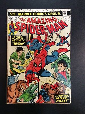 Amazing Spider-Man #140 Bronze Age Marvel Comic Book Conway Andru Jackal 1974