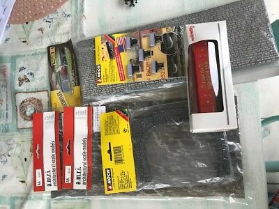 Bulk Lot - Faller, Noch, AMRI, assorted Scenery items and Marklin Wagon