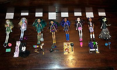 Monster High Dolls x8 Mattel