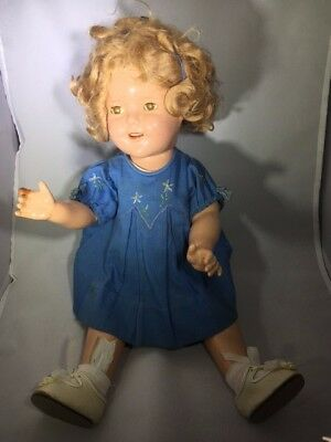 """Vintage REDUCED 15% Ideal 19"""" Shirley Temple Doll w/tagged Dress"""
