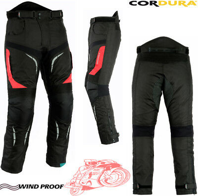 Red Speed Maxx Mens Vent Cordura Ce Armour Motorbike Motorcycle Textile Trousers