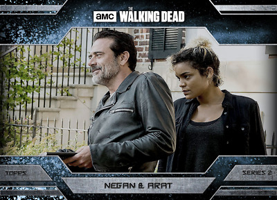 Topps Walking Dead Allegiance Series 2 Negan and Arat ICE Variant 500cc
