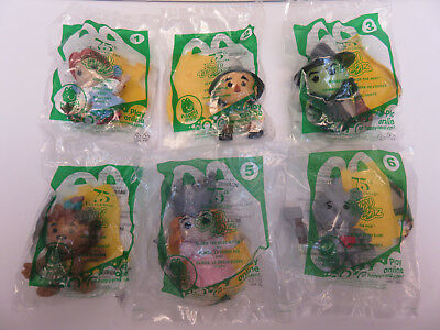 The Wizard Of Oz Movie Set 75 Anniversary Mcdonalds 1-6 Happy Meal toys 2013 New