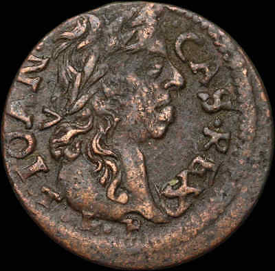POLAND. Jan of Casimir copper Solidus, Horseman type, 1661, Hammered coin