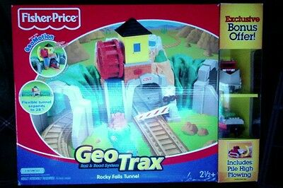 Fisher-Price Geo Trax Rocky Falls Tunnel with bonus