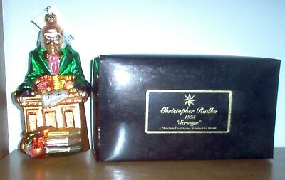 "Christopher Radko Scrooge ornament ""A Christmas Carol Series #9973"" of 10,000"