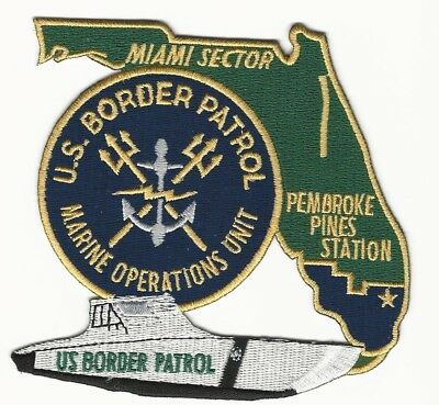 Sharp State Shaped Marine Patrol USBP Border Patl Pemp Pines Florida Police FL