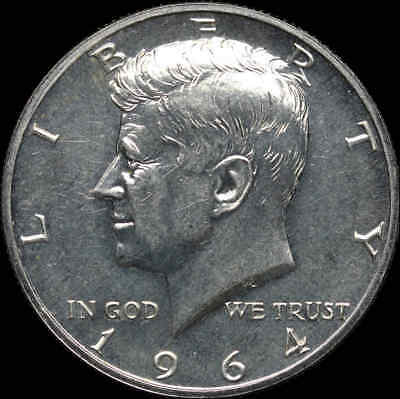 Kennedy Half Dollar Proof, 1964, Accented Hair variety, Some cameo, hazed