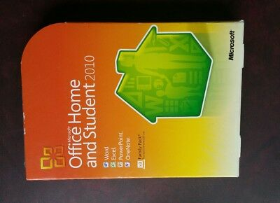 Authentic Microsoft Office  2010 Home & Student  32/64-bit  Complete Product 3PC
