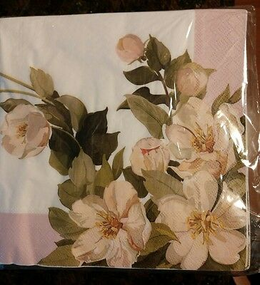 Rose Lunch Napkins 40 3-Ply Floral  C R Gibson Decopage