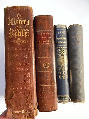 Antique Christian / Baptists Book Lot - History Of The Bible  History Of Baptits