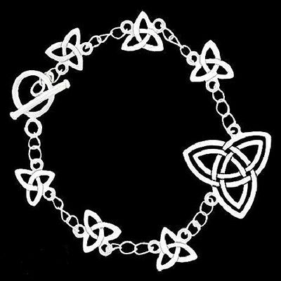 Celtic Trinity Knot Pewter with Toggle bracelet