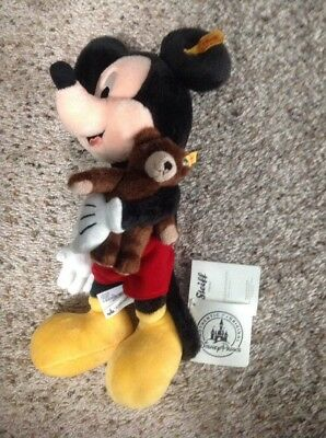 2016 Disney Steiff Mickey Mouse Plush NEW With Tags