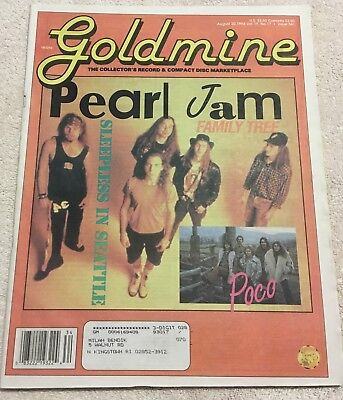 Goldmine Magazine PEARL JAM 1993 Eddie Veddar McCready Temple of the Dog Cornell