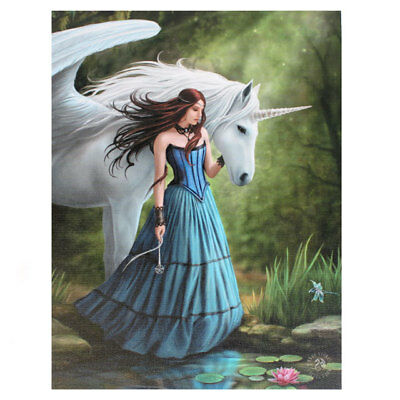 Anne Stokes Enchanted Pool 25cm x 19cm Canvas Print