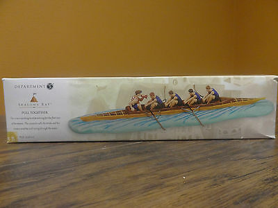 New Dept56 53600 Seasons Bay Pull Together Row Boat Rowing Team Accssory Village