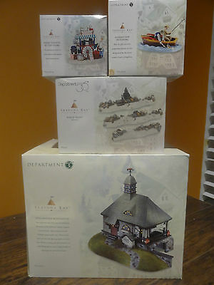 Dept56 53414 Seasons Bay Stillwater Boathouse A Grand Day Of Fishing Village Lot