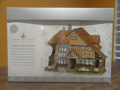 LIMITED ED New Dept 56 53446 Seasons Bay Garden Valley Vineyard Winery Village