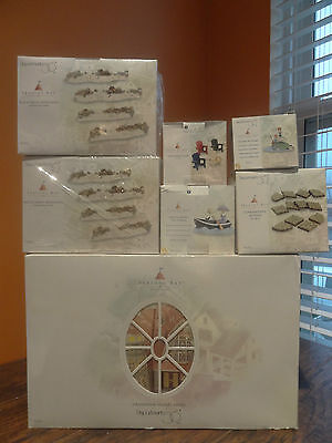 Dept56 Seasons Bay Grandview Shore Hotel Boat Fishing Stone Footpath Village Lot