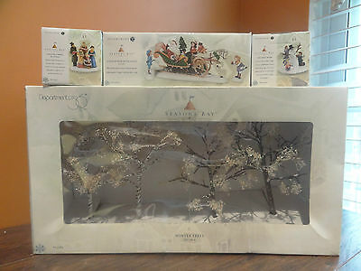 Dept 56 Seasons Bay Christmas Santa Sleigh Ride Snowman Carol Tree Village Lot