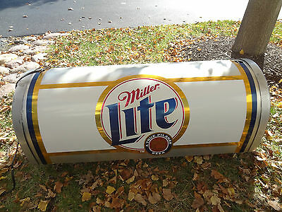 VINTAGE Miller Lite Bar Pool Table Light Beer Sign Man Cave Den Anheuser Busch