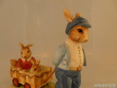 Royal Doulton Bunnykins - A ride through the park  - RDB 10 - Rare