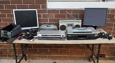 DVD PLAYER X 4 PLUS, 2 MONITORS, VINTAGE CASSETTE, VIDEO CAMERA, CD ply ETC -