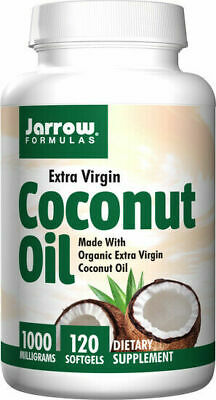 Jarrow Formulas, Coconut Oil, Extra Virgin, 1000 mg, 120 Softgels, MCT Oil