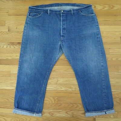 Vintage Original Levis 501 Jeans Denim Redline Display Single Stitch W54 L30