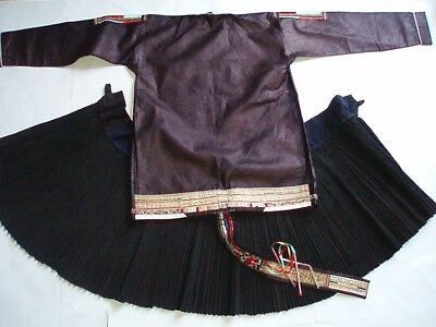 Miao Dong Old  Embroidery Applique Jacket Skirt  China