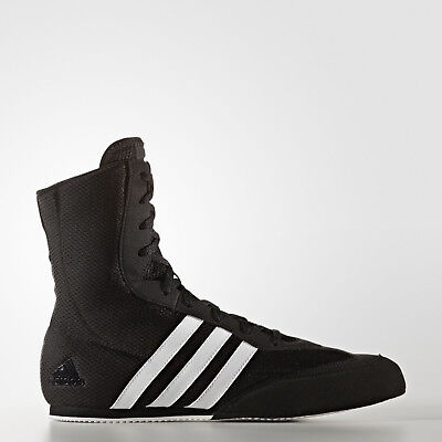 NEW Adidas Boxing Boots - BOX HOG 2 Boxing Shoes Boots Black/White NEW DESIGN